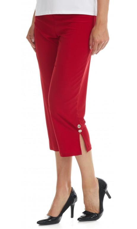 Capri en bas du genoux rouge Mode Gitane
