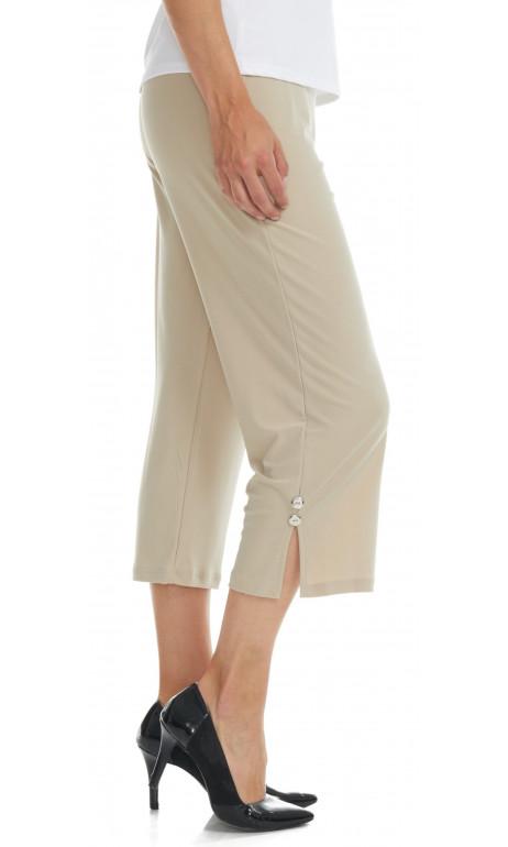 Capri en bas du genoux beige mode gitane