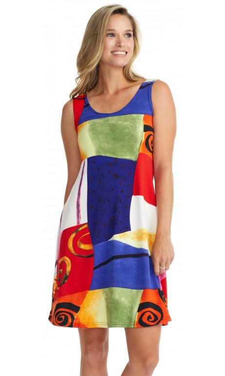 Picasso print sun dress
