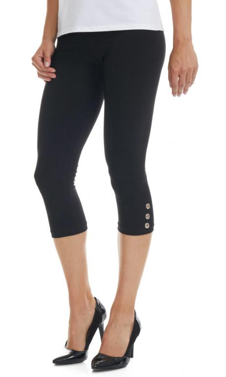Capri legging en bas du genou avec petits boutons