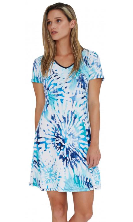 Soft dress blue color
