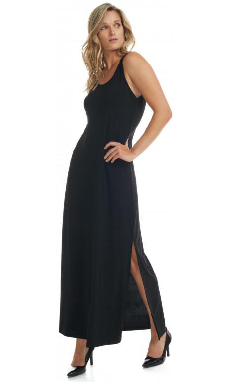 Long plain dress Black