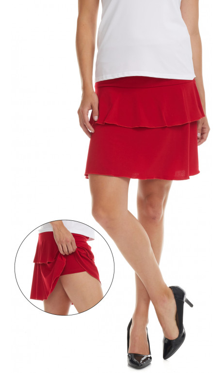 Jupe culotte Rouge Collection Modes Gitane