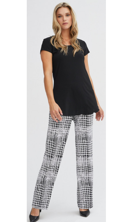 Straight-leg houndstooth pants