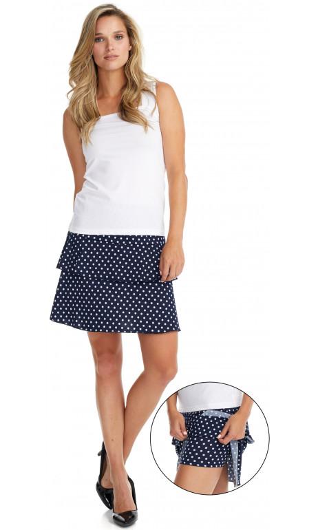Jupe culotte Marine petit Blanc