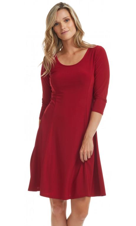 Red mode Gitane Dress 3/4 Sleeve