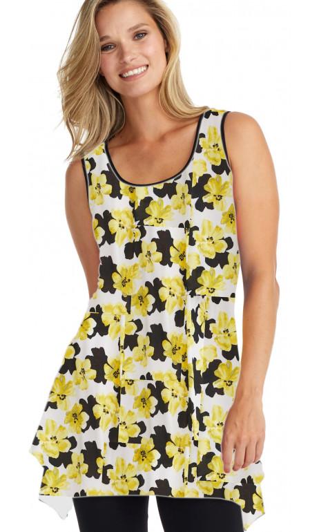 Summer flower tunic Yellow
