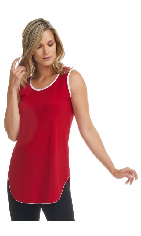 Camisole Rouge et Blanche style tunique