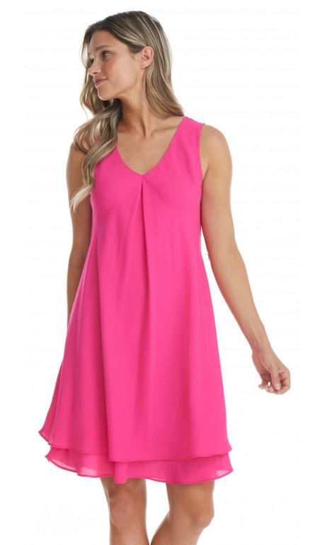 Chiffon dress Pink