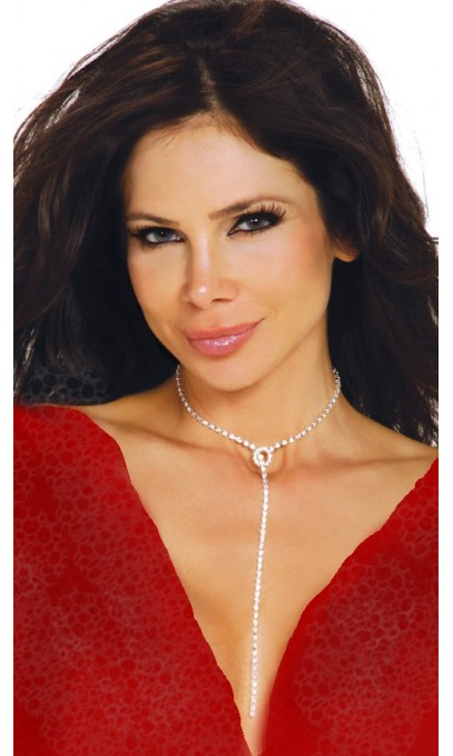 Long collier de rhinestone, stass