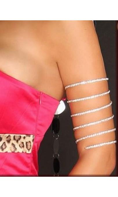 Bracelet haut de bras en rhinestone, strass