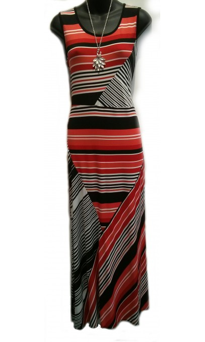 Long Red Dress fashion multicolored mode vin Rouge