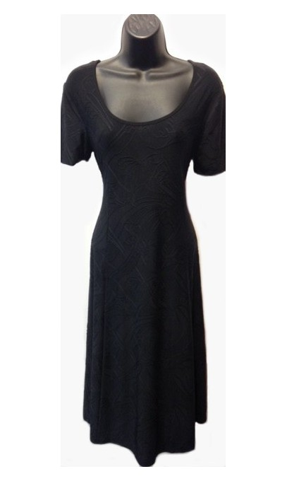 f320249b55 Textured plain black dress Modes Gitanes colection - Boutique Isla ...