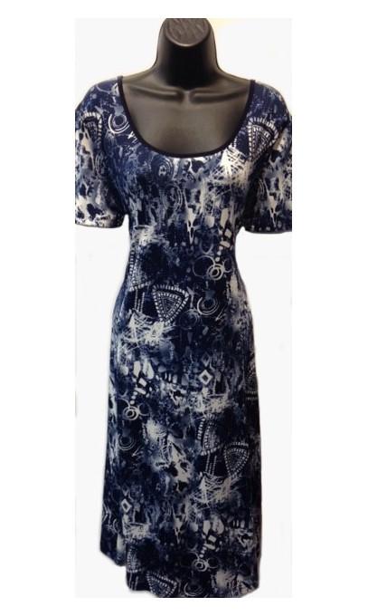 robe modes gitane teinte de bleu marin boutique isla. Black Bedroom Furniture Sets. Home Design Ideas