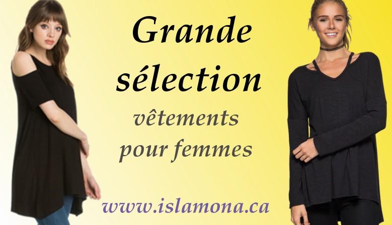 Grande sélection vêtements pour femmes canada