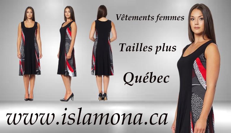 Vêtements pour femmes Taille plus size fabriqué a Québec au Canada