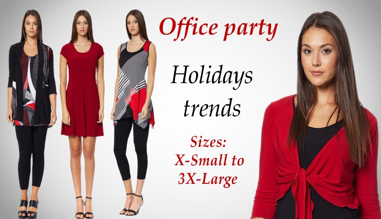 Clothes for women plus size Quebec City, for office party and christmas