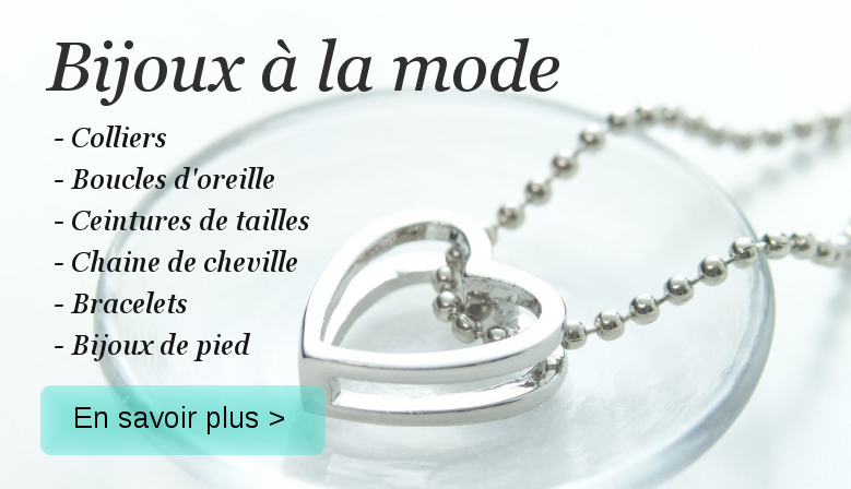 Collections de bijoux à la mode