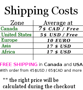 Free shipping everywhere in Canada !