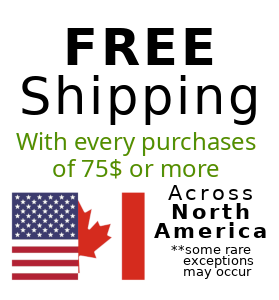 Free shipping across Canada and United States